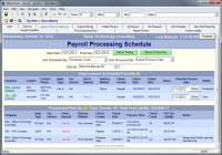 Custom Screen - Interactive Payroll Schedule