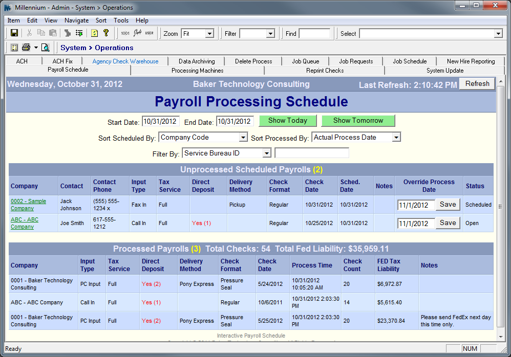Custom Screen   Interactive Payroll Schedule. D  Payroll Schedule Template